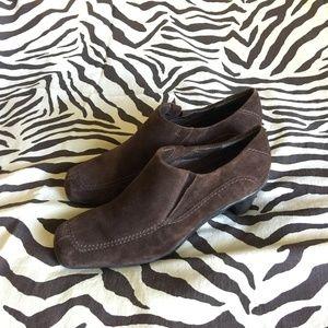 Aerology Aerosoles Brown Leather/Felt Heeled Boot